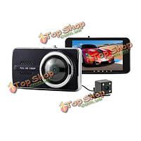 Y900 Автомобильный видеорегистратор NOVATEK 96658 двойной линзы 4.0-дюймов H.264 FullHD 1080p видео камера рекордер