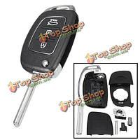Автомобиль дистанционного ключа случай ФОБ 3 Кнопка флип ключевых оболочки влево раза для Hyundai Санта-Фе 13-14 pg180a
