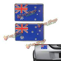 2шт алюминиевого сплава 3D значок Austrlia австралиец узор флаг наклейка эмблема украшение