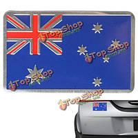 Алюминий Austrlia флаг значок австралиец узор Джек украшение автомобиля стикер эмблема переводная картинка