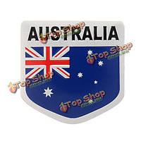 Алюминиевый сплав 3d значок Austrlia австралиец узор флаг наклейка эмблема деколь украшения