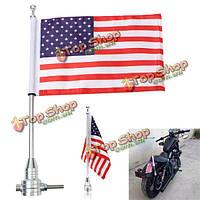 Универсальный мотоцикл американский флаг США полюс багажник крепление для Harley