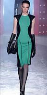 Оригинал. Распродажа остатков. Платье CMNC Woman черного цвета с мятной вставкой AB90126