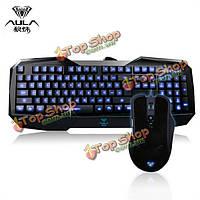 Аула сломанной душа beheadbacklit игровой клавиатуры и 2000 точек на дюйм проводной USB комбо игровая мышь