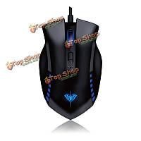 Аула manum 7 ключей двухрежимный 800/1200 / 1600 / 2000dpi проводной игровой мыши