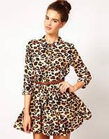 Платье леопардовой расцветки под поясок AB90199