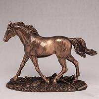 """Бронзовая статуэтка """"Бегущий конь"""" 14 см новогодний подарок"""