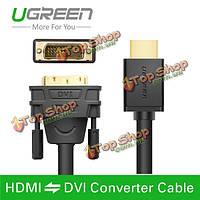 UGreen 2m HDMI на дви DVI-D 24 + 1 контактный адаптер кабели 3D1080p для LCD  DVD ТВЧ XBOX PlayStation 3 PS3