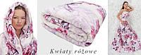 Плед из микрофибры 8 Марта (Розовые цветы), ,160*210, 200*220, Польша, фото 1