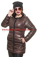 Женская куртка шоколадного цвета