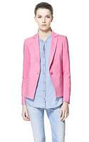 Оригинал. Распродажа. Пиджак ZAPA розового цвета строго стиля AB90127