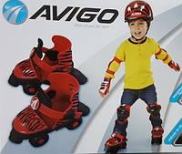 Набор фирменные ролики со шлемом, наколенниками Avigo Toy Skates Оригинал из США!