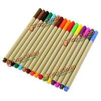 16 цветов рисунок ручки воды цветные шестигранные художников черчение картина