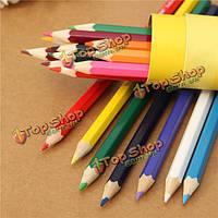18 цветов рисования карандашей набор бутилированной шестигранные нетоксичных художники писать черчения
