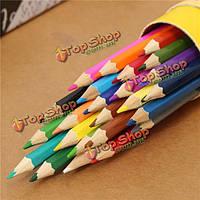 24 цвета рисования карандаши комплект шестигранные баллонах  не являющиеся toxicartists пишущих черчения