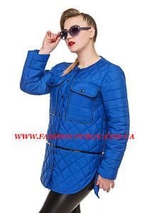Осенняя куртка стеганная двумя узорами