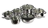 Набор посуды 12 предметов Kamille с мраморной сковородой