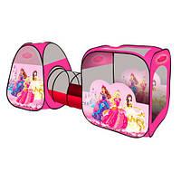 Детская палатка-тоннель с принцессами sg70015-1, р. 270-92-92 см