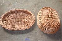 Хлебница из лозы с крышкой, фото 1