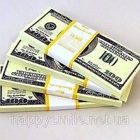 Пачка денег 100 долларов старого образца