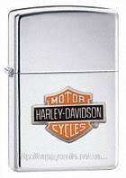 Зажигалка Zippo Harley Davidson Bar and Shield High Polished Chrome