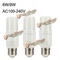 6w 9w LED Clear белый теплый белый 60Втatt-замена AC100-240В лампочка E27 супер яркий