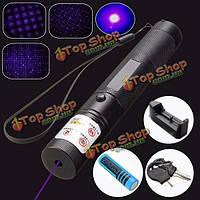 Фиолетовый лазерный указатель 303 532nm 1mw 18650+ зарядное устройство