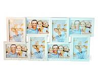Подарок для семьи - фоторамка семейная на 8 фото (дерево)