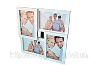 Рамка на 4 фото деревянная / что подарить на свадьбу