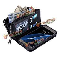 Litchi Grain бумажник случай карточки слотами кожаный чехол крышка телефона для Samsung Galaxy S7 edge
