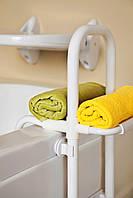 Поручень на бортик ванной, серия безопасность, АБС пластик, алюминий, КВ 06, фото 1