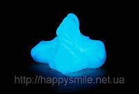 Жвачка для рук Голубая – прикольная игрушка, тренажер для рук, практичный подарок. Светится в темноте - 80 г