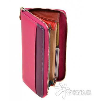 Женский кожаный кошелек-клатч Dr.Bond WRS-2 pink, фото 2