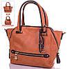 Женская сумка-трансформер из качественного кожезаменителя GUSSACI (ГУССАЧИ) TUGUS13A060-3-10 (коричневый)