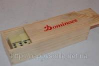 Домино в деревянной упаковке