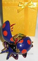 Оригинальная шкатулка со стразами, прикольный сувенир божия коровка 6 видов