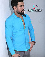 Рубашка мужская с длинным рукавом.  RSK-3075, фото 1