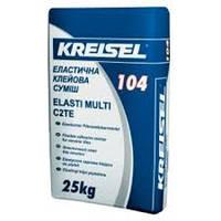Клей для плитки эластичный Kreisel-104, 25кг
