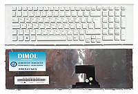 Оригинальная клавиатура для ноутбука Sony Vaio VPC-EF, VPCEF series, white, ru