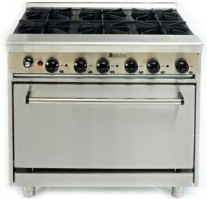 Плита газовая 6-ти конфорочная с духовкой CustomHeat GR 6-36