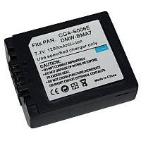 Аккумулятор CGR-S006E - аналог (заменяем с CGA-S006, CGR-S006, DMW-BMA7) для камер Panasonic - 1200 ma