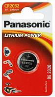 Батарейка panasonic cr 2032 1 штука lithium (cr-2032el/1b)