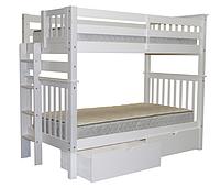 """Двухъярусная кровать """"Каролина"""" цвет Белый, Супер усиленная"""