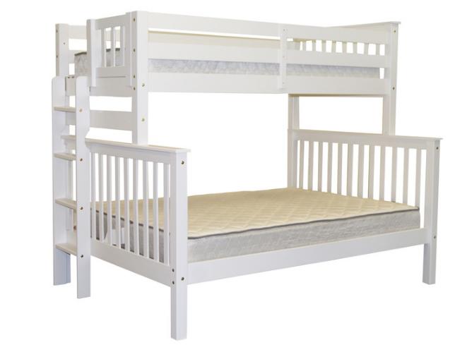 """Двухъярусная кровать """"Каролина"""" Белая с широким спальным местом"""
