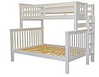 """Двухъярусная кровать """"Каролина"""" Белая с широким спальным местом, фото 2"""