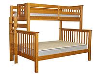 """Двухъярусная кровать """"Каролина"""" Ольха с широким спальным местом"""