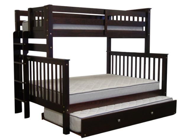 """Двухъярусная кровать """"Каролина"""" Венге с широким спальным местом"""