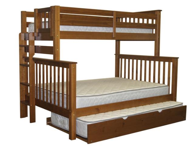 """Двухъярусная кровать """"Каролина"""" Орех с широким спальным местом"""