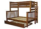 """Двухъярусная кровать """"Каролина"""" Орех с широким спальным местом, фото 2"""