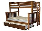"""Двухъярусная кровать """"Каролина"""" Орех с широким спальным местом, фото 3"""